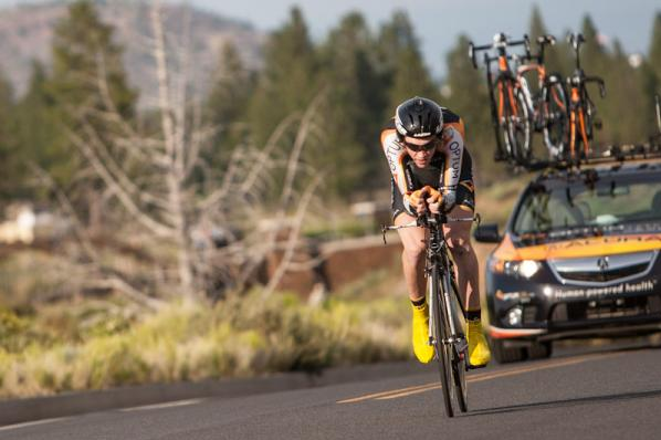 Chad on the way to winning the 2012 Cascade Classic prologue (J.Devich)
