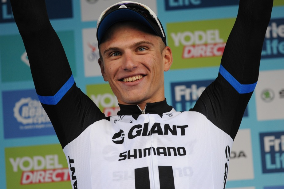 Kittel celebrates his stage win (TOB)