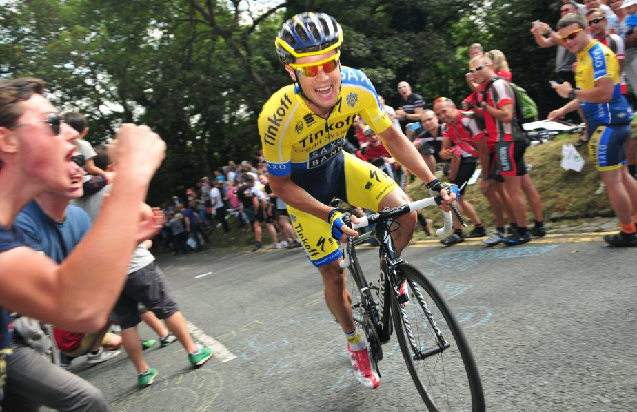 Nicolas Roche on the attack on the final climb (SweetSpot)