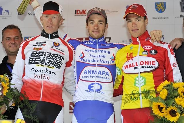 Omloop Het Nieuwsblad Beloften 2011 podium