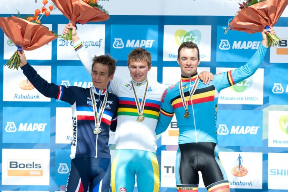 Tom on the podium at the 2012 Worlds