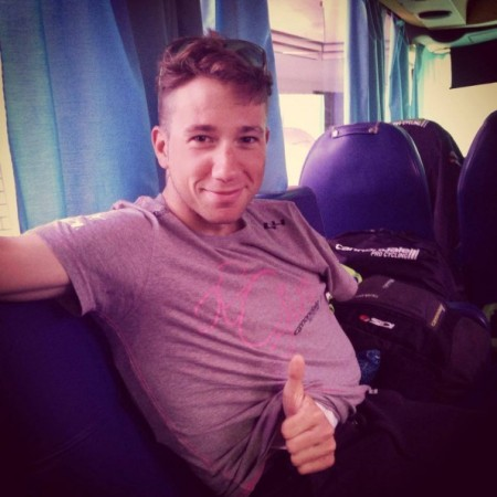 Recovering from his Giro crash (Cannondale Instagram)