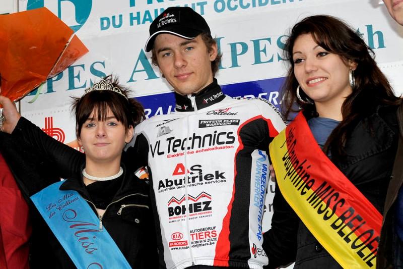On the podium at the Triptyque des Monts er Châteaux