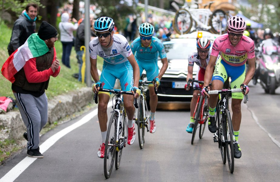 Aru, Landa, Trofimov and Contador - the main men on stage 15 (ANSA/Claudio Peri)