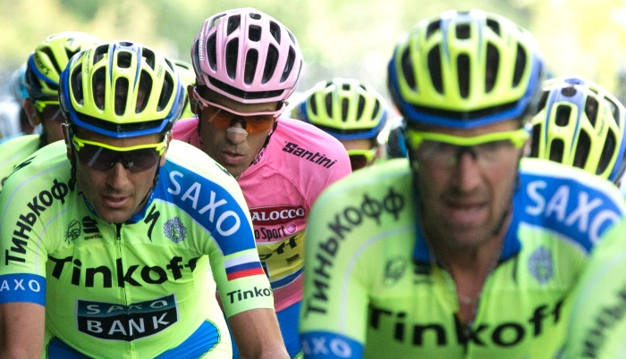Contador's concentration (ANSA/Claudio Peri)