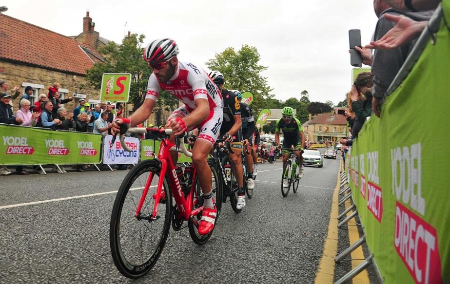 BMC's Danilo Wyss leads the breakaway (Sweetspot)