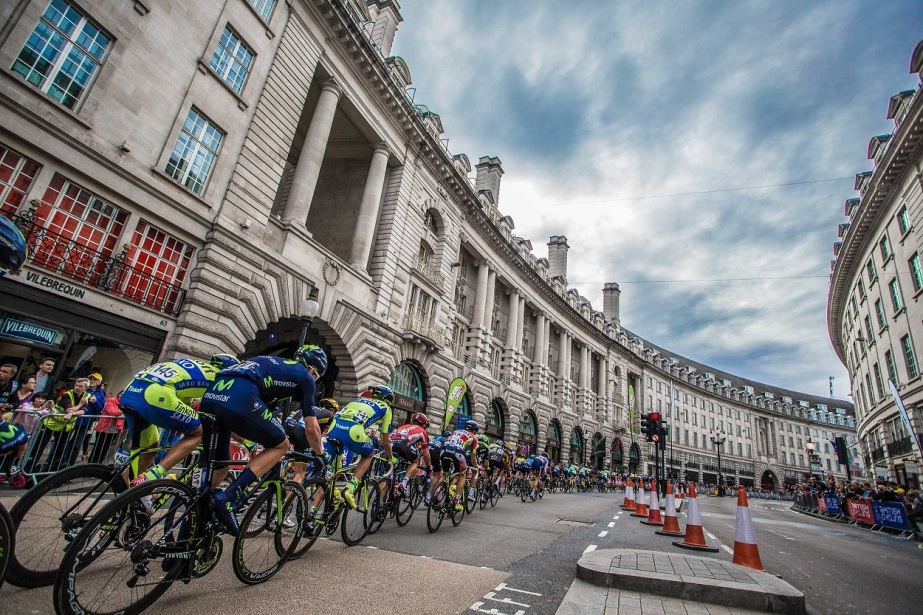 The peloton on Regent Street, London (SweetSpot)
