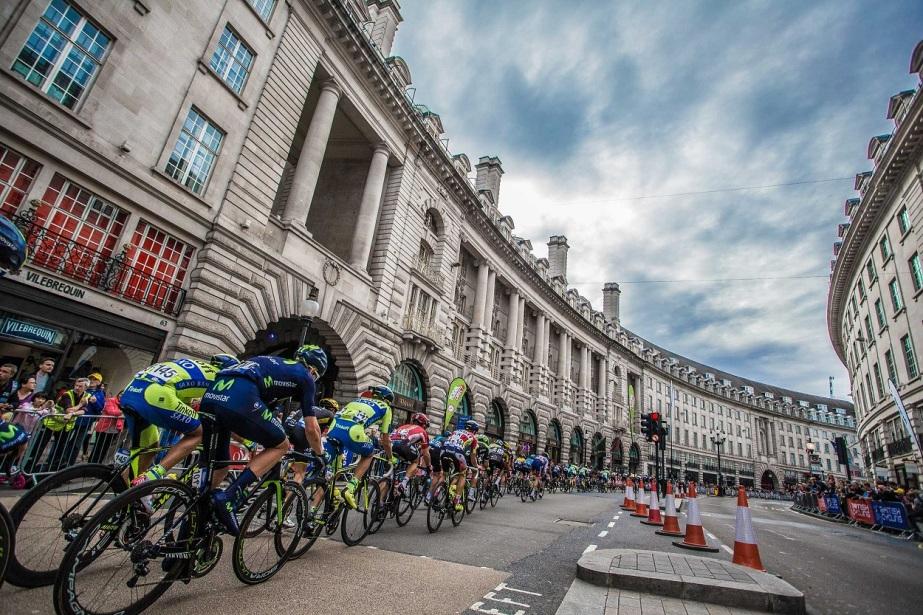 The peloton on Regent Street, London (SweetSpot)